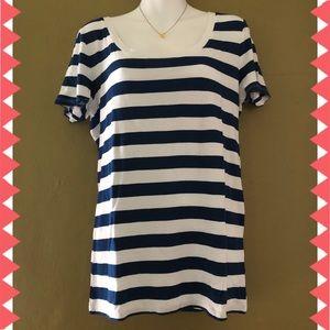 Merona Scoop Neck Stripe T-Shirt